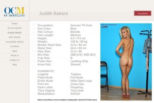 Judith Rakers modeling