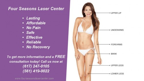 Our Laser Hair Removal Benefits: • Lasting • Affordable • No Pain • Safe • Effective • Reliable • No Recovery  To get more information and a FREE consultation today! Call us now at (617) 247-0105, (561) 419-0022